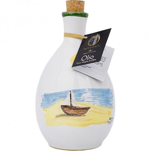 Extra virgin olive oil - Handcrafted ceramic bottle
