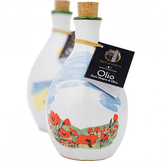 Olio extra vergine di oliva in ceramica artigianale