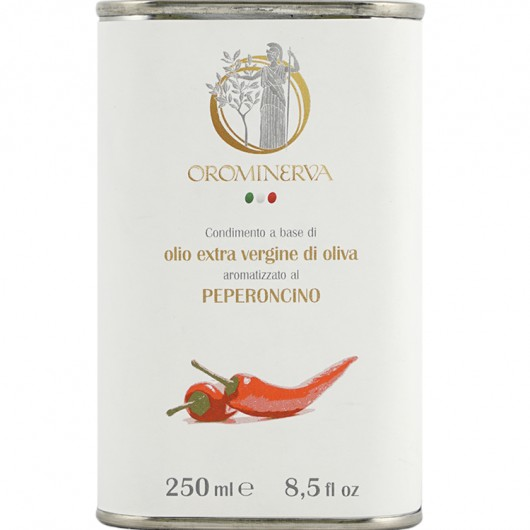 Chili peppers-flavoured extra virgin olive oil dressing